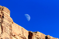 Rising Half Moon Over Marble Canyon