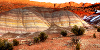 Colorful Bands Of Erosion