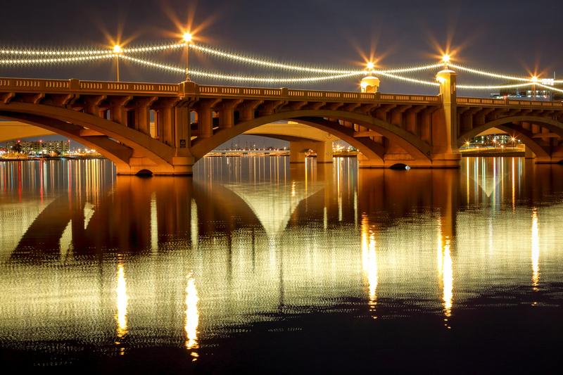 Mill Avenue Bridge Reflections